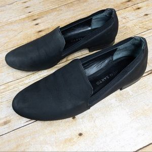 Frano Sarto Flats Loafers Leather Black Size 5.5